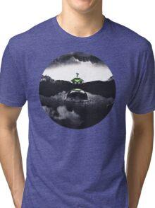 Landing on Zebes A Metroid Surrealism Tri-blend T-Shirt