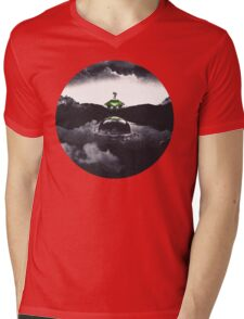 Landing on Zebes A Metroid Surrealism Mens V-Neck T-Shirt