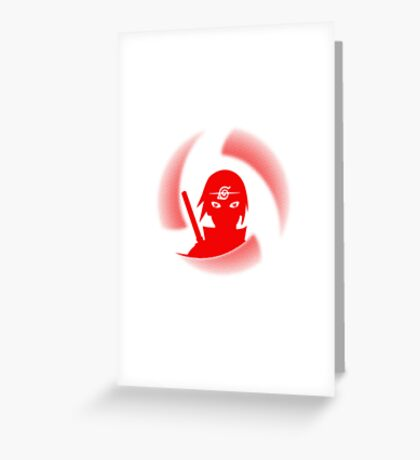 manga itachi Greeting Card