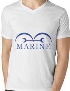 manga one piece marine Mens V-Neck T-Shirt