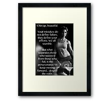 Chin Up Beautiful Framed Print