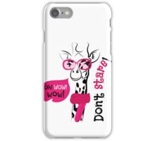 head of a giraffe in glasses and scarf iPhone Case/Skin