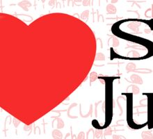 I Heart St. Jude Sticker