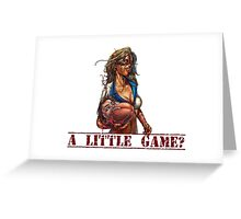 Baseball Zombie ...A little Game? (Una partidita?) Greeting Card