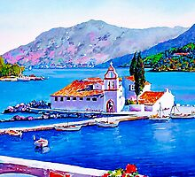 Tranquil Island by painting-greece