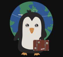 Penguin world traveler   One Piece - Short Sleeve