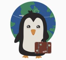Penguin world traveler   Kids Tee