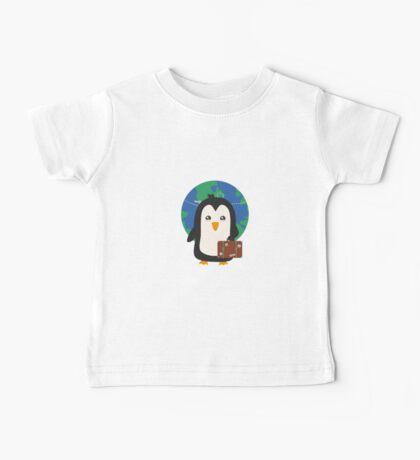 Penguin world traveler   Baby Tee