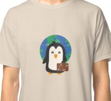 Penguin world traveler   Classic T-Shirt