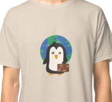 Penguin world traveler   Classic T-Shirt