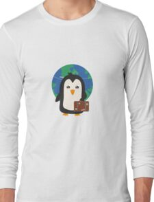 Penguin world traveler   Long Sleeve T-Shirt