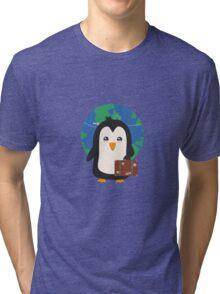 Penguin world traveler   Tri-blend T-Shirt