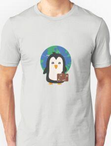 Penguin world traveler   Unisex T-Shirt