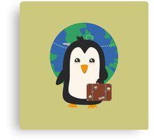 Penguin world traveler   Canvas Print