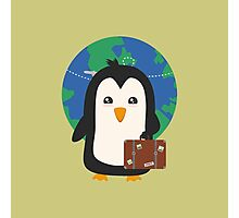 Penguin world traveler   Photographic Print