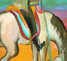 Gaucho a caballo 11 por Diego Manuel Sticker