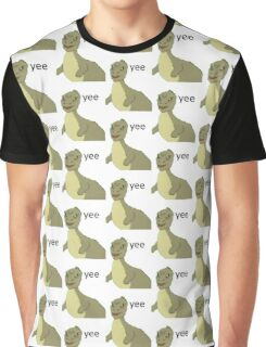 Yee [dinosaur maym :^)] (version 1, video quality, black text) Graphic T-Shirt