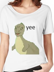 Yee [dinosaur maym :^)] (version 1, video quality, black text) Women's Relaxed Fit T-Shirt