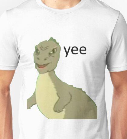Yee [dinosaur maym :^)] (version 1, video quality, black text) Unisex T-Shirt