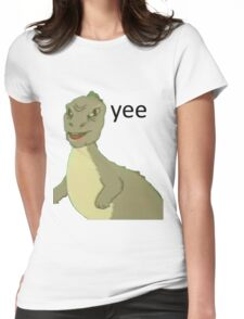 Yee [dinosaur maym :^)] (version 1, video quality, black text) Womens Fitted T-Shirt
