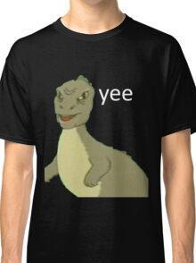 Yee [dinosaur maym :^)] (version 1, video quality, white text) Classic T-Shirt