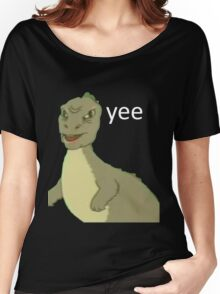 Yee [dinosaur maym :^)] (version 1, video quality, white text) Women's Relaxed Fit T-Shirt