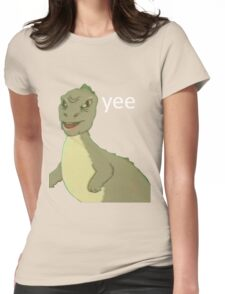 Yee [dinosaur maym :^)] (version 1, video quality, white text) Womens Fitted T-Shirt
