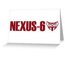 BLADE RUNNER NEXUS 6 REPLICANT Greeting Card