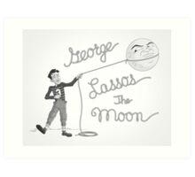 George Lassos the Moon Art Print