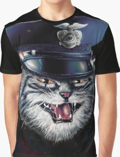 Police Cat Graphic T-Shirt