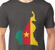 Cameroon Flag Map Unisex T-Shirt