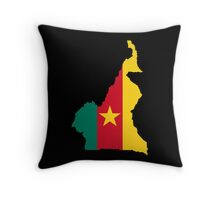 Cameroon Flag Map Throw Pillow