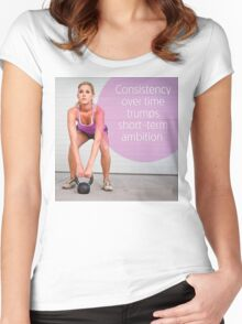 Consistency Over Time Women's Fitted Scoop T-Shirt