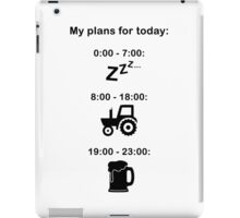 Plans for today - Black text iPad Case/Skin
