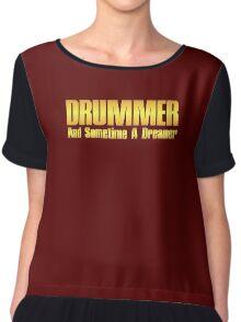 drummer dreamer (gold) Chiffon Top