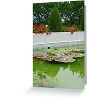 Roses and Water Lilies Greeting Card