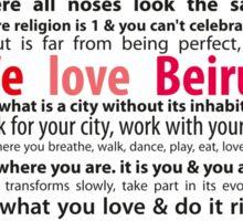 Beirut Manifesto - We Love Beirut Sticker