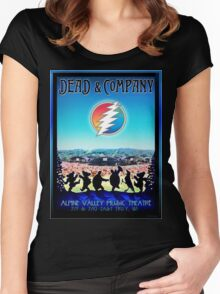 DEAD AND COMPANY SUMMER TOUR 2016 ALPINE VALLEY MUSIC THEATRE-EAST TROY,WI Women's Fitted Scoop T-Shirt