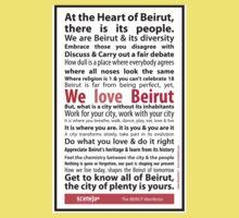 Beirut Manifesto - We Love Beirut Baby Tee