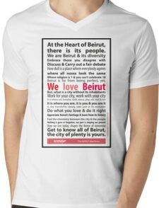 Beirut Manifesto - We Love Beirut Mens V-Neck T-Shirt