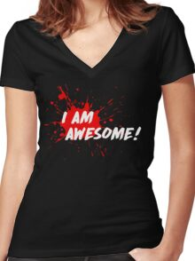 I am Awesome! Women's Fitted V-Neck T-Shirt