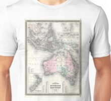 Vintage Australia & Southeastern Asia Map (1870) Unisex T-Shirt