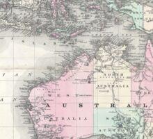 Vintage Australia & Southeastern Asia Map (1870) Sticker