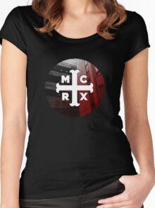 MCRX logo Women's Fitted Scoop T-Shirt