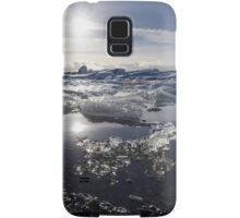 Melting ice in Jokulsarlon glacier lagoon, Iceland Samsung Galaxy Case/Skin