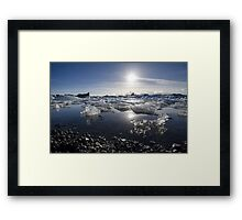 Melting ice in Jokulsarlon glacier lagoon, Iceland Framed Print