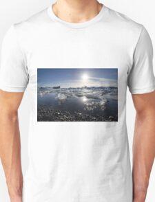 Melting ice in Jokulsarlon glacier lagoon, Iceland T-Shirt