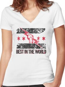 CM Punk Best in the World T Shirt Women's Fitted V-Neck T-Shirt