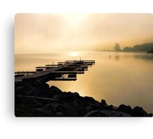 A Pier in the Morning Light - Prints, Cases, Pillows and More Canvas Print
