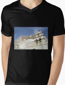 Architecture in Oia, Santorini, Greek Islands Mens V-Neck T-Shirt